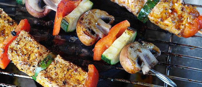 kebab on grill